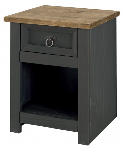 Premium Carbon Corona 1 Drawer Bedside
